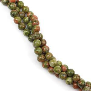Triple Trouble 3x 120cts Unakite Plain Rounds Approx 6mm, 38cm Strand (360cts)