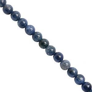 118cts Blue Sapphire Plain Bead Round Approx 4.50 to 5.50mm, 38cm Strand