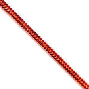 Baltic Cherry Amber Round Beads Approx 5mm, 1m Strand