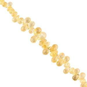 Limited Edition! - 145cts Citrine Faceted Mix Shapes Approx 7x3 to 13x8mm, 18cm Strand.