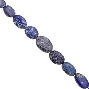 85cts Lapis Lazuli Graduated Smooth Oval Approx 9x7 to 17x10.5mm, 22cm Strand