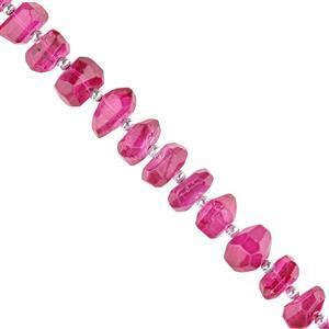 Pink Coated Topaz Gemstone Strands