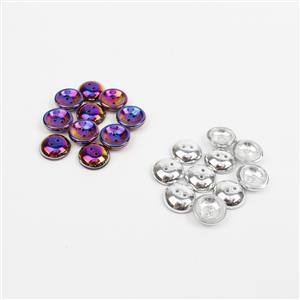 Czech Glass Cup Crystal Labrador and  Jet Full Sliperit Beads, Approx 13x4mm (10pk)