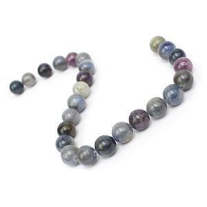 110cts Natural  Multi-Colour Sapphire Plain Rounds Approx 8mm, 19cm Strand