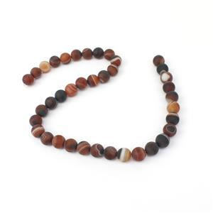 240cts Dyed Multi-Colour Stripe Agate Matte Rounds Approx 10mm, 38cm