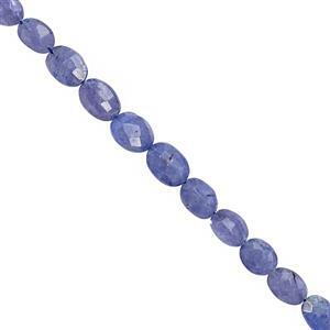 40cts Tanzanite Graduated Faceted Oval Approx 6.5x5 to 9.5x7.5mm, 18cm Strand