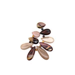 170cts Mookite Graduated Pears Approx 14x20 -15x40mm 9 pcs