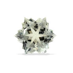 3.9cts  Prasiolite 10x10mm Snowflake  (I)