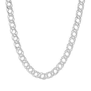 """22"""" Sterling Silver Tempo Diamond Cut Rambo Chain 3.51g"""