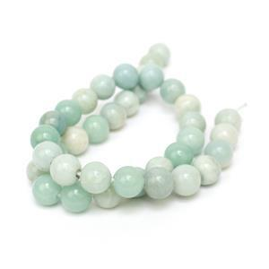 250cts Chinese Amazonite Plain Rounds 2mm Holes Approx 10mm, 38cm Strand