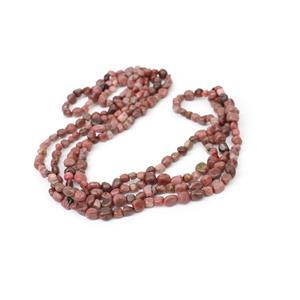 """470cts Rhodonite Nuggets Approx 5x8mm, 60"""" Endless Necklace"""