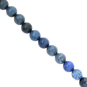 Dumortierite Quartz Gemstone Strand