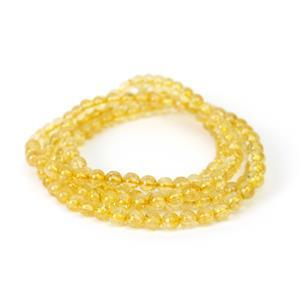 """230cts Citrine Rounds Approx 6mm, 36"""" Endless Strand"""