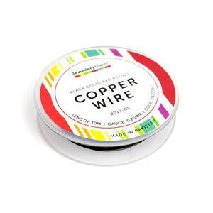 10m Black Coloured Round Copper Wire 0.25mm