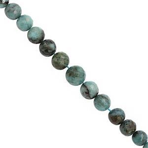 70cts Chrysocolla Graduated Faceted Round Approx 7 to 10mm, 15cm Strand