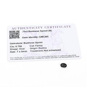 0.75cts Burmese Spinel 7x5mm Oval  (N)