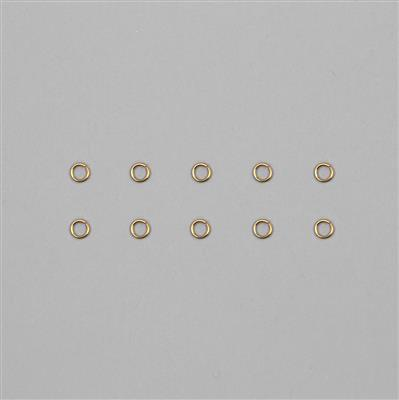 9ct Gold Open Jump Ring 0.70mm Gauge 4.00mm (10pcs)