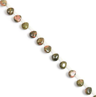 140cts Unakite Teardrops Approx 12x10mm (S/D) Approx 28 stones