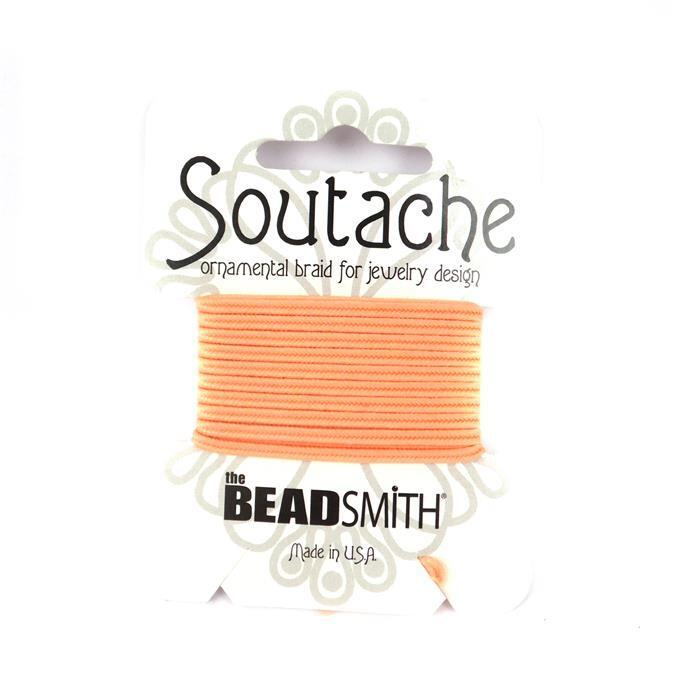 Peach Soutache Cord 3yards 3mm