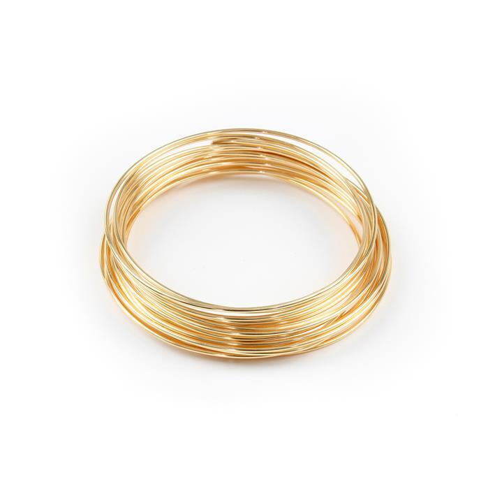 Champagne Gold Coloured Silver Plated Copper Wire - 1.5mm (1.5m)