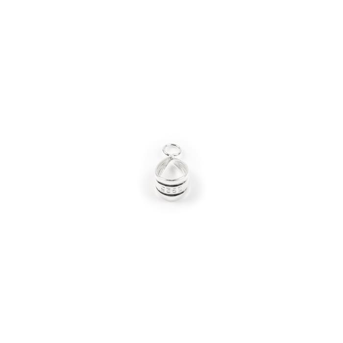 925 Sterling Silver Fluted Bail With Loop -14mm (1pc)