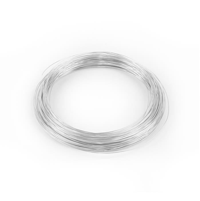 Silver Plated Copper Wire - 0.6mm (10m)