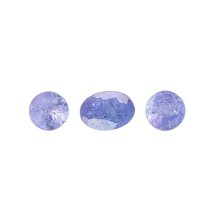 1.70cts Tanzanite Faceted Multi Shape Cut-stone.(3pc/pk)