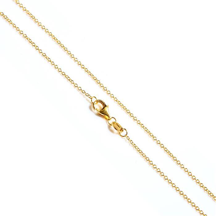 Gold Plated 925 Sterling Silver Cable Chain Approx 45cm/18