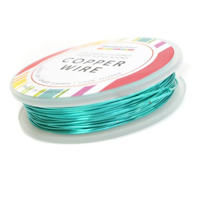 10M Silver Plated Sea Green Wire 0.80mm