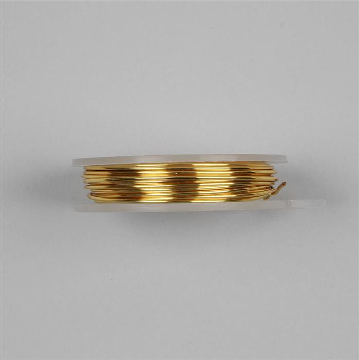 Gold Coloured Silver Plated Copper Wire 1mm - (4m)