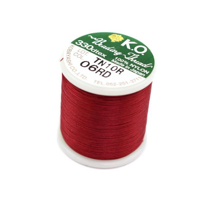 KO Beading Thread Rich Red Approx 50m