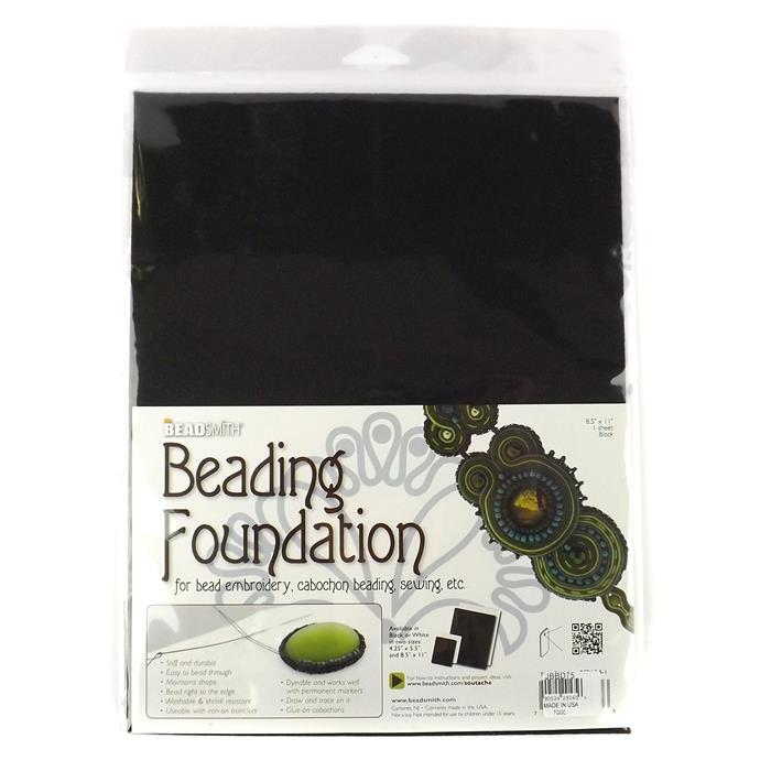 Large Black Beading Foundation 8.5x11