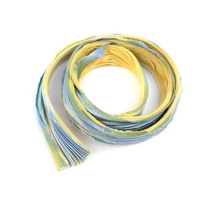 1/2 Yard August Nights Shibori Silk Ribbon