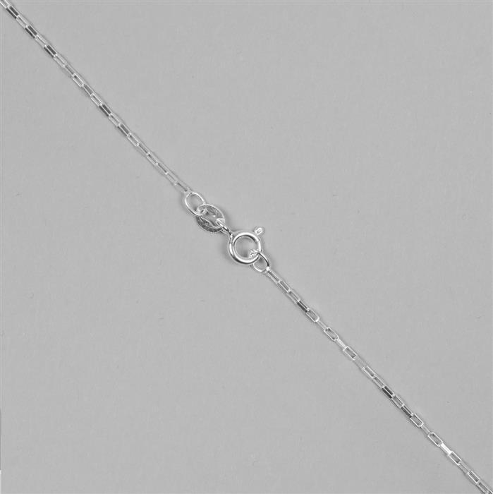 925 Sterling Silver Chain with 2.4x1mm Links, 46cm/18