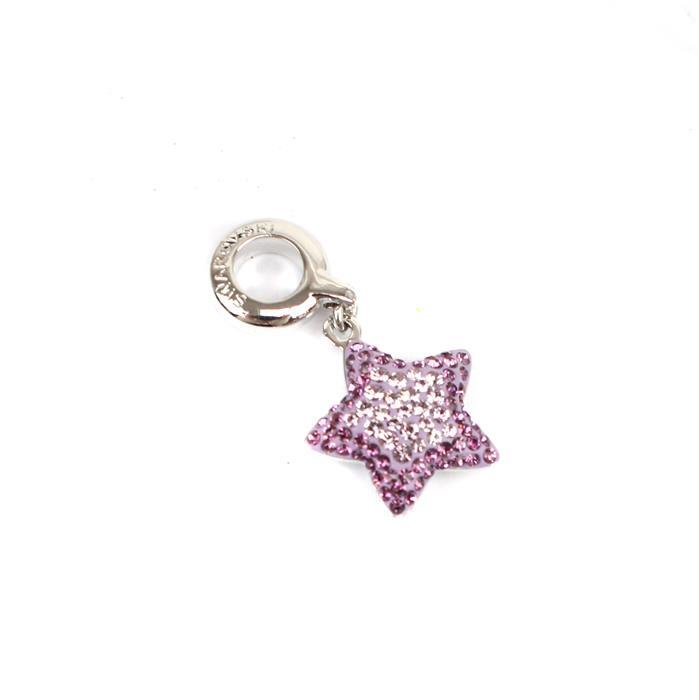 Swarovski BeCharmed Pavé Star Charm Light Amethyst & Amethyst 14x14mm 1pk