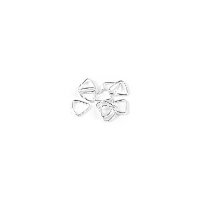 925 Sterling Silver Triangle Open Jump Rings - 8mm (10pcs/pk)