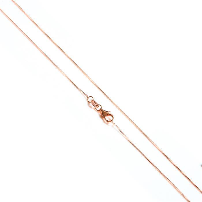Rose Gold Plated 925 Sterling Silver Curb Chain 45cm/18