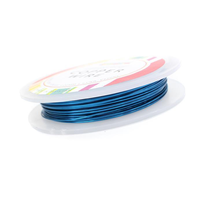 10m Silver Plated Sapphire Blue Wire 1.00mm