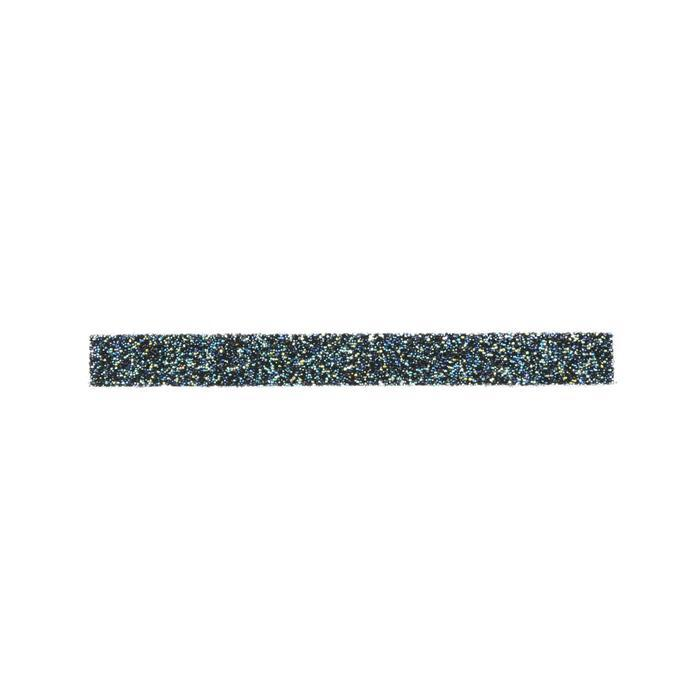 Swarovski Crystal Fine Rocks Fabric, Crystal AB with Black Backing 15x1.5cm, pk1
