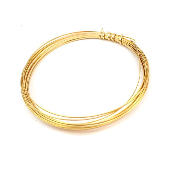 Gold Coloured Copper Half Round Wire - 0.8mm (3m)