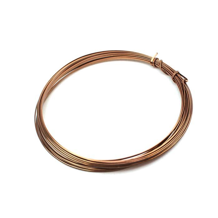 Antique Bronze Coloured Copper Half Round Wire - 0.8mm (3m)