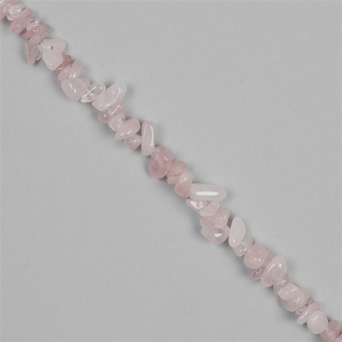 300cts Rose Quartz Small Chips Approx 6x4 to 15x7mm